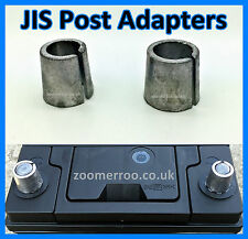 BRAND NEW JAPANESE CAR BATTERY TERMINAL POST ADAPTOR SLEEVES 1 X POS 1 X NEG