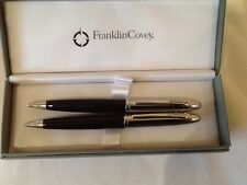 franklin covey ball point pen,and pencil,black/chrome + gift bag,fc0011-1,rrp£25
