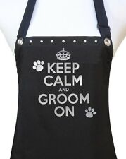 KEEP CALM GROOM ON Dog Cat Pet Grooming salon polyurethane waterproof apron