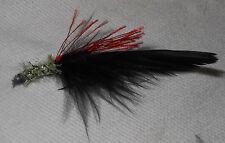 Hand-Tied Oregon Size #4 Real Feather Fishing Flies Fly Lures Hook Black Red