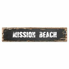SP0296 MISSION BEACH Chic Street Sign Bar Store Shop Cafe Home Wall Decor