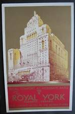 CANADA TORONTO 1920-30S CPR Postcard - THE ROYAL YORK HOTEL