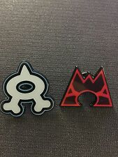 Pokemon Double Crisis Team Magma & Team Aqua Collector PIN - NEW
