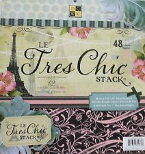 "Le Tres Chic 12""x12""  Printed Cardstock Paper Stack with Glitter  by DCWV"