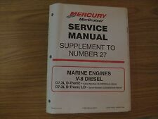 VINTAGE 1999 MERCURY MERCRUISER #27 MARINE ENGINES V-8 DIESEL SERVICE MANUAL