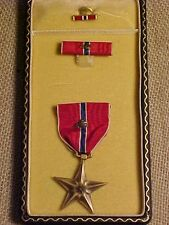 WWII US BRONZE STAR WITH OAK LEAF CLUSTER NAMED CASED MEDAL - POSSIBLY 34TH DIV