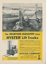 1952 Hyster Lift Truck Ad Aviation Industry Pan American PAA Clipper Golden Gate