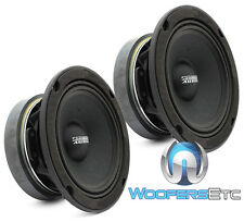 "PAIR SUNDOWN AUDIO SXMP-6.5 8-OHM 6.5"" 200W RMS MIDRANGES CAR MIDS SPEAKERS NEW"