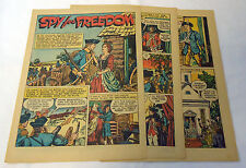 1944 four page cartoon story ~ HENRY ELVERTON Spy For Freedom
