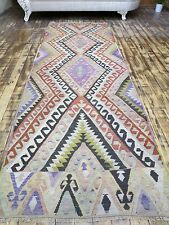 "Antique Turkish Antalya Rug Runner,Carpet Runner 35"" x 105,5"" Hallway Rug,Wool"