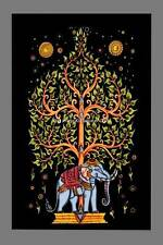 Small Indian Wall Hanging Tree Of Life Elephant Tapestry Throw Ethnic Boho Decor