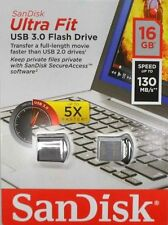 Sandisk CZ43 16G Ultra Fit 16GB 16 G USB 3.0 130MB/Sec Flash Drive Mini Nano