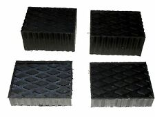 "Auto Lift / Rolling Jack Rubber Block Pad Adapter Set of 4 (2-1 1/2"" and 2- 3"")"