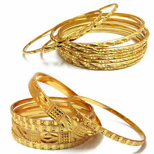 2 set  Beautiful fancy  design gold plated 6 pc  & 12 pc bangle set  (size 2.6)