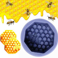 Bee Wax Silicone Fondant Mould Cake Decor Candle Bake Icing Sugarcraft Mold