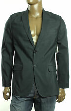 New Mens Calvin Klein Slim Fit Black Notched Lapel Sportcoat Blazer Jacket L