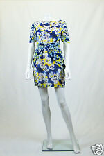*OLIVIA RUBIN* PANSY PRINT SILK MINI DRESS