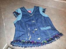 Girls Oilily Denim Shirt Vest Colorful Sleeveless 152 girls 12