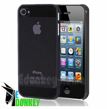 CUSTODIA CASE COVER PER APPLE IPHONE 5 5S TRASPARENTE NERA GRIGIA RIGIDA SOTTILE