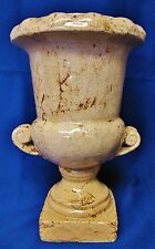 DISTRESSED STYLE TERRA COTTA POTTERY VASE HEAVY PLANTER URN DECOR GARDEN PORCH