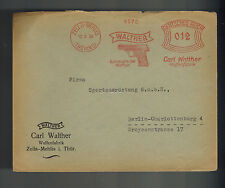 1934 Zella Germany Meter cover to Berlin Carl Walther Arms Company Pistol