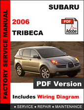 SUBARU 2006 TRIBECA ENGINE TRANSMISSION BRAKE SUSPENSION SERVICE REPAIR MANUAL
