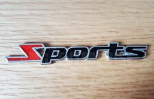 BLACK/RED 3D Metal SPORTS Badge Sticker for Audi TT TTS TTRS Quattro Convertible