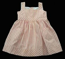 Girls STRASBURG Red Striped Dress 18m Sundress Outfit Cotton Summer White Yellow