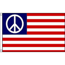 Usa Peace Flag 5Ft X 3Ft America Usa Cnd Banner With 2 Metal Eyelets New