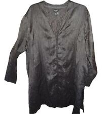 "EUC! Eileen Fisher Silk Cardigan Jacket Tunic~ 1X (49"" bust) Charcoal Grey"