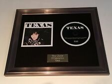SIGNED/AUTOGRAPHED TEXAS - THE CONVERSATION FRAMED CD. SHARLEEN SPITERI. RARE