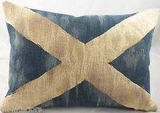 Saltire Andrew Scotland Flag Woven Cushion Shabby Chic LB455