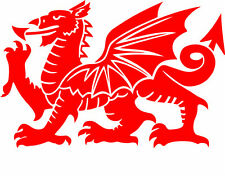 Welsh Dragon CYMRU Vinyl Car Window, Bumper Decal / Sticker / Graphic