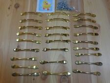 "DRAWER PULLS Lot of 26 Gold Metal 5"" Cupboard Handles"