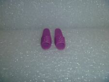 Barbie Shoes -  OT Slide Sandals Fit Flat Footed Poseable Dolls Plum Purple