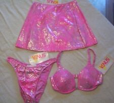 VENUS Swimwear Lot 3 $145 Top C Bottom M Skirt S NWT METALLIC REPTILE S/M Bikini