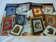 "Cross stitch dog designs-Mary Ellen Designs ""Best in Show""-10 dog breeds(1982)"