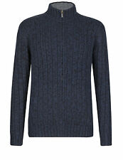 BNWT M&S Mens North Coast ChunkyKnit Full Zip Cardigan Jumper Jacket XXL Navy