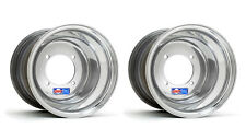 "DWT Polished ATV Rear Wheels Rims PAIR 9"" 9x8  Honda 450R 400EX 250R 350X 200X"