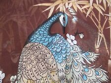 PEACOCK SCARF ~ BROWN 100% POLYESTER
