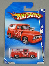 Hot Wheels Champion '56 FORD F-100 PANEL TRUCK 2010 HW Performance #9 *RED*
