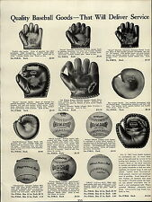 1937 PAPER AD Bill Terry Rogers Hornsby Champion Batsman Model Baseball Glove