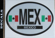 Mexico Country Flag Oval Decal