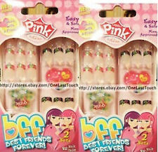 PINK BY KISS SHARE NAILS WITH BFF BEST FRIENDS FOREVER FOR GIRLS 2 SETS OF NAILS