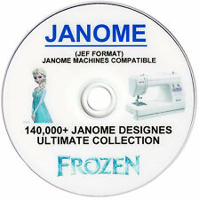 140,000 + JANOME JEF Format FROZEN Embroidery Designs FREE Software FREE P&P