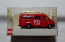 """Busch - 1:87  H0 - 43762 Ford Transit """"RTL Radio""""  OVP"""