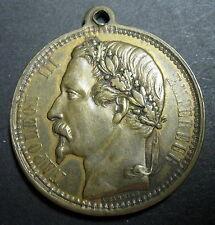 Médaille NAPOLÉON III et EUGÉNIE Unis le 30 janvier 1853 Signée A. GARNIER 34 mm