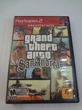 GTA Grand Theft Auto San Andreas (Sony PlayStation 2) with Map Poster