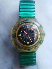 """orologio swatch SCUBA 200 modello """"MINT DROPS"""" SDK 108 FLEX anno 1993 USATO"""
