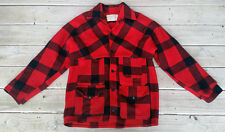Vintage Filson Double Mackinaw Red Buffalo Plaid Coat Sz. M